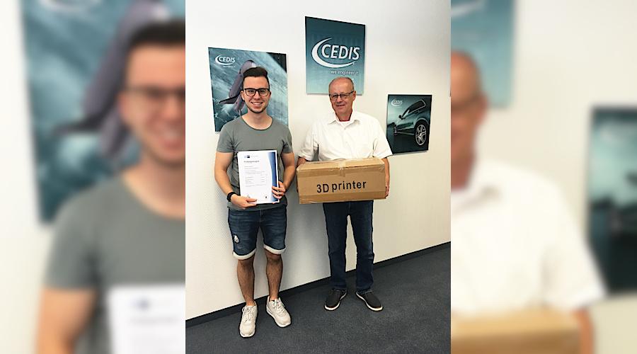 Erfolgreicher Ausbildungsabschluss zum Technischen Produktdesigner (IHK) bei CEDIS | Foto: CEDIS GmbH
